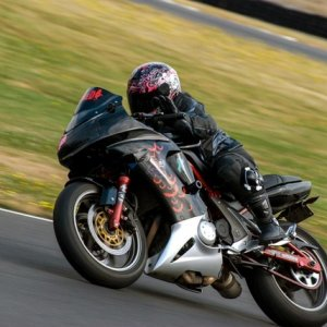 my old ninja doing track days