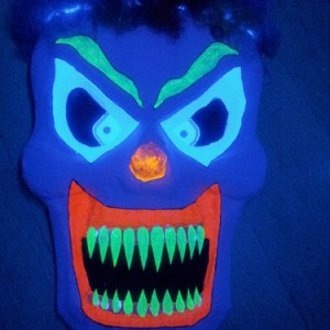 10. When he glowed under the blacklight, he knew he was complete. He'd been created for this: to scare children as the creepy clown, Ernesto von Polka