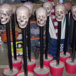 skull stanchions