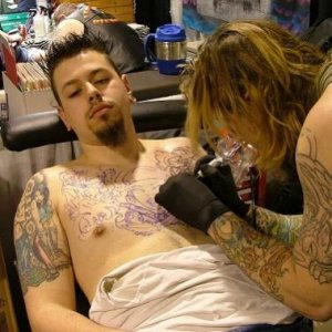Greg tattooing Matt