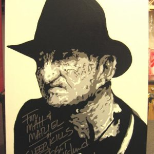 pop art pic of Freddy that Matt did