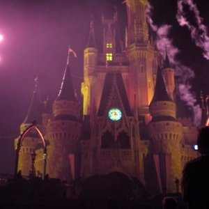 Cinderella's Castle looking extra creepy for the 2007 Mickey's Halloween Party