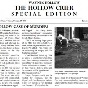 Last Tickler - Murder article