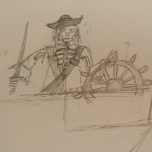 This is my original sketch of how I wanted my Pirate Captain