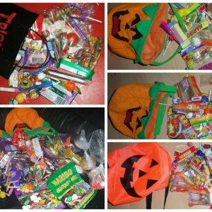 trick or treat hauls over the years