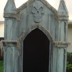 Finished crypt...well for now anyway. Will house my FCG with a black light inside shining on it.