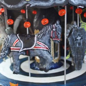 Edmond's Abandoned Carousel - made mainly from paper mache and recycled materials. To see a video, image gallery, and how-to instructions, go to http: