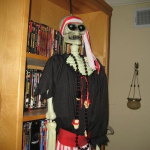 My pirate skeleton I dressed up.