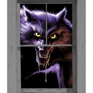 werewolf window decor