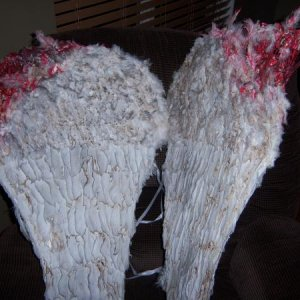 Angel wings after I get ahold of them