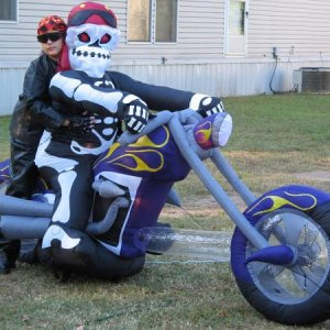 A biker and his Ghoul friend!