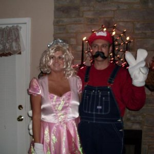 My husband I this year (Princess Peach & Mario)