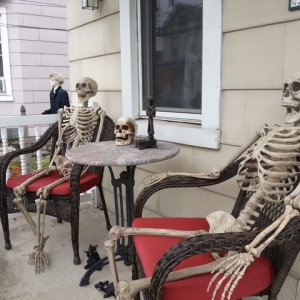 Skeletons relaxing before the big night