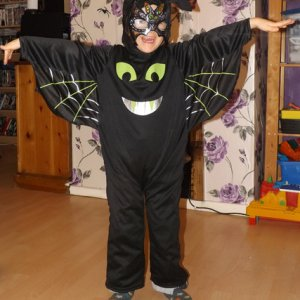 my youngest son as a bat 2014