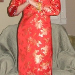 Asian Lady in Red