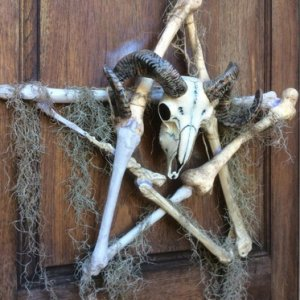 Pentagram Bone Wreath