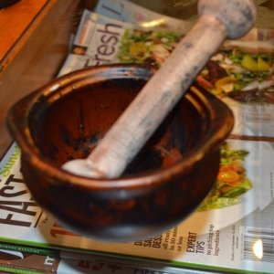 Mortar and Pestle- my witch will be able to concoct evil potions now.