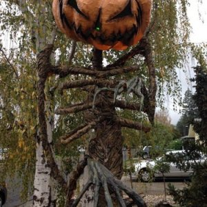 Pumpkin Sentinel at Evil Vines Cemetery- new for 2014!