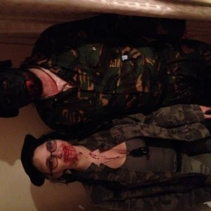 My partner and I on the night. We're the soldiers sent in to deal with the zombie problem and ended up becoming zombies ourselves ;)