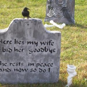 My husband's favorite tombstone