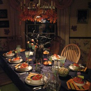 another view of the dinner table