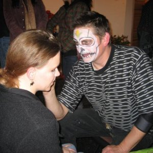 getting my face painted