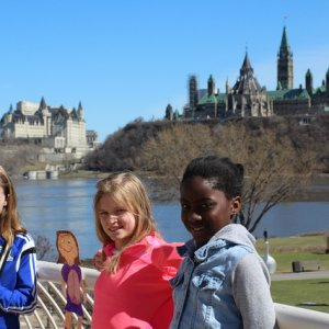 View of Ottawa River, Parliament and Chateau Laurier from Gatineau QC