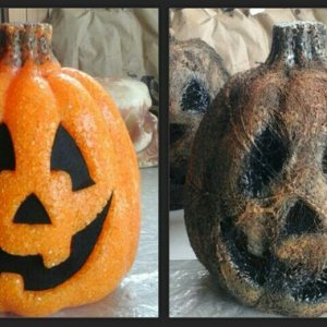 Jack o' Lantern  before and after corpsing  it