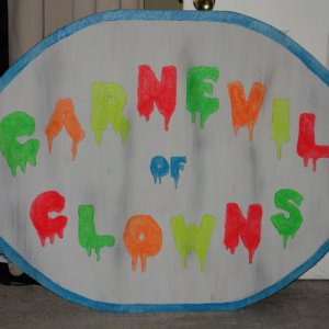 Carnevil of Clowns UV sign
