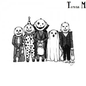 Trick or Treater, ink- 2014