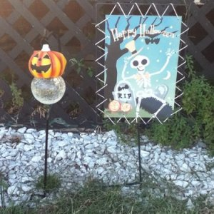 99 Cents Only store canvas banner, and Shopko JoL solar light. Not really vintage, but the banner looks semi-vintage in style.