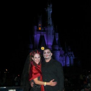 2008 Mickey's Halloween Party- Donnie and I
