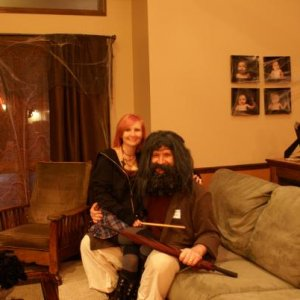 Tonks and Hagrid
