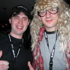 My friends Stu and Rich, who dressed as Wayne and Garth from Wayne's World