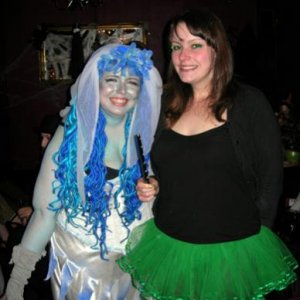Me and my friend Suz, who was Tinkerbell