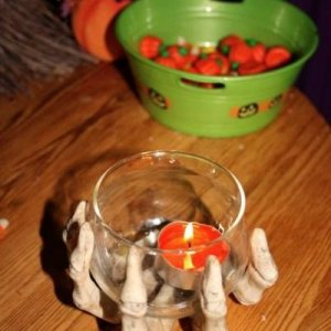 One of my many bowls of candycorn/pumpkins