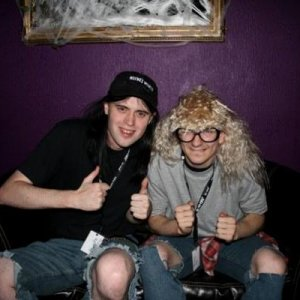 Wayne and Garth partying on!
