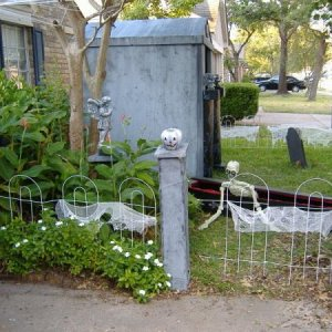 Front walkway to door. Blucky coffin and crypt.