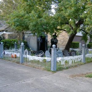 Long view of the completed graveyard.