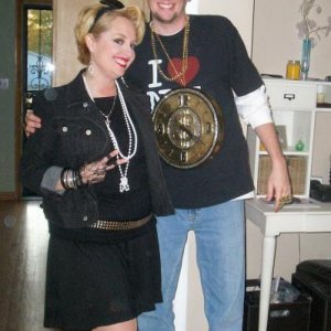 Slightly different dress up. Tim my hubby was Flava Flav! I was an 80s Madonna kind of girl.