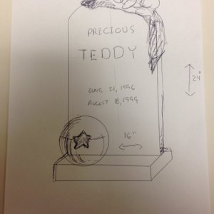 Rough Sketch for my Teddy Bear,/Child themed tombstone