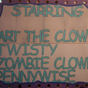 CarnEvil of Clowns Marquee Starring Sign