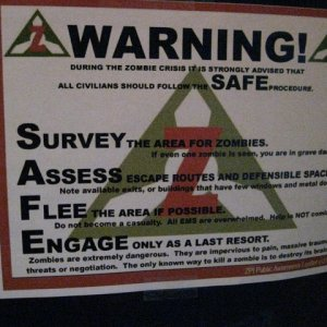 Warning Poster SAFE