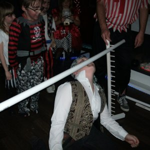 Limbo = cheap fun and went with the theme playing Harry Belafonte