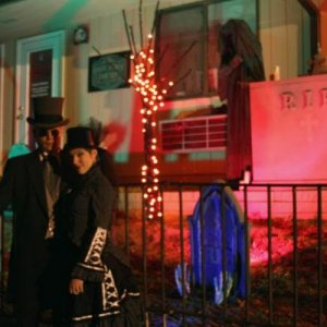 Halloween 2008 - We went as the  Victorian Mina Harker and Dracula (from Coppolla's movie).