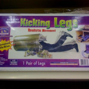 BIG LOTS, 2008. Kicking Legs Prop.