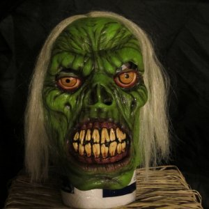 Green Zombie from ghoulish productions