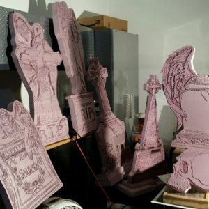 These are all the Tombstones I carved this year