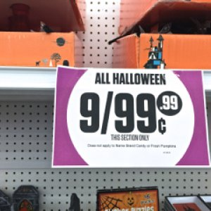 99 CENT ONLY, 2015. Yep, Halloween really, really discounted.