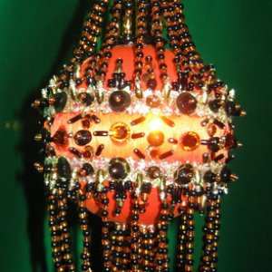 orange Halloween chandelier 2009